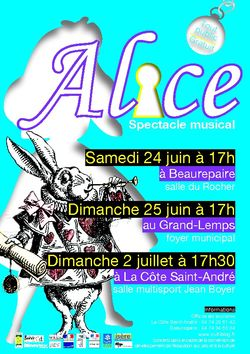 Alice : spectacle musical tout public